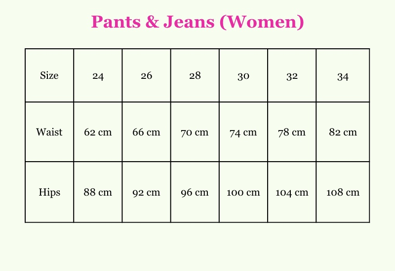Clothes sizes us to eu