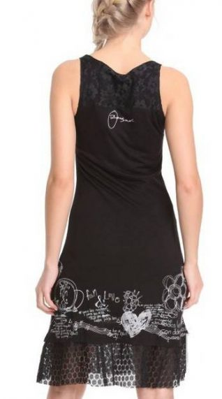 Desigual Dress Capricornio, Black, Fun Fashion