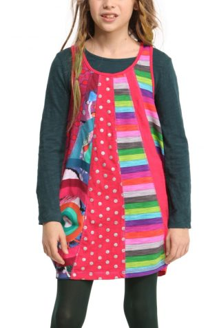Desigual Girls Dress Malva, Canada