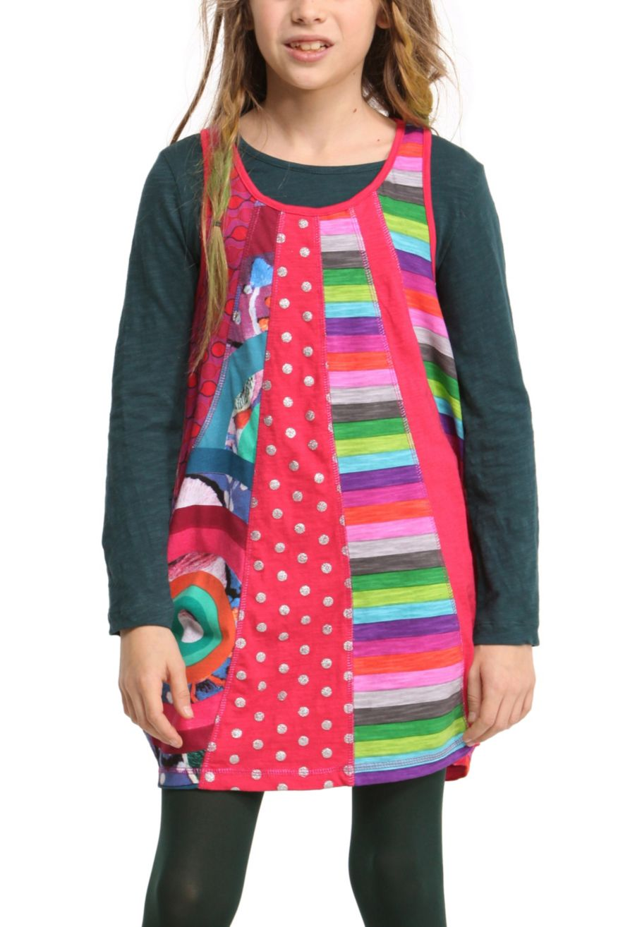 Desigual Girls Dress Malva, Canada