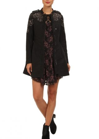 Free People Coat Embroidered Sergeant , Canada