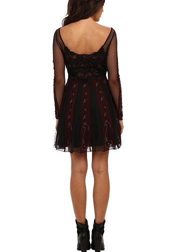 Free People Dress Quot Tough Love Quot F570y850 Black Burgundy