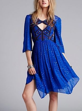 Free People Dress All You Need, Blue, Canada