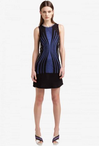 3293633 Black Blue Lurex Dress, Canada