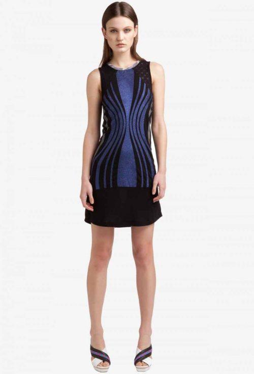 3293633 Black Blue Lurex Dress, Canada