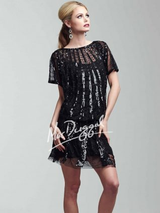 Mac Duggal Black Sequins Dress, Canada