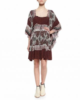 Free People Heart of Gold Dress Scarlet Combo , Canada