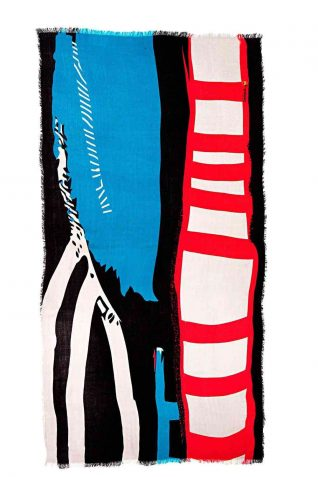 Desigual Lacroix Scarf Rectangle Strokes, Canada