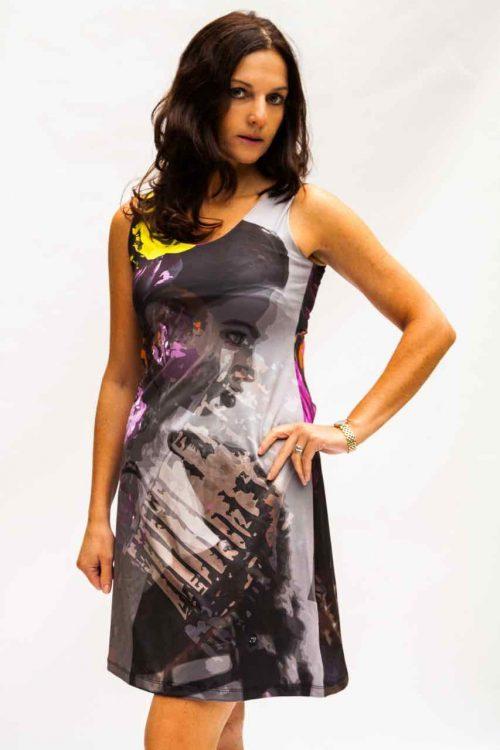 VOLT Design Dress Black Purple