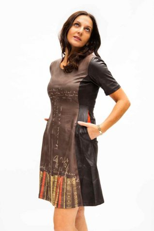 VOLT Design Leather Dress with Books