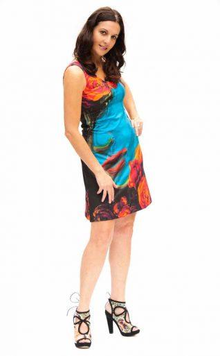 VOLT Design Dress IRIS Blue and Red