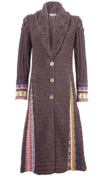 52527 IVKO Brown Long Jacket
