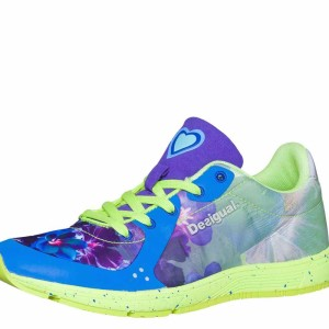 Desigual Running Shoes Airlia. Blue and lime
