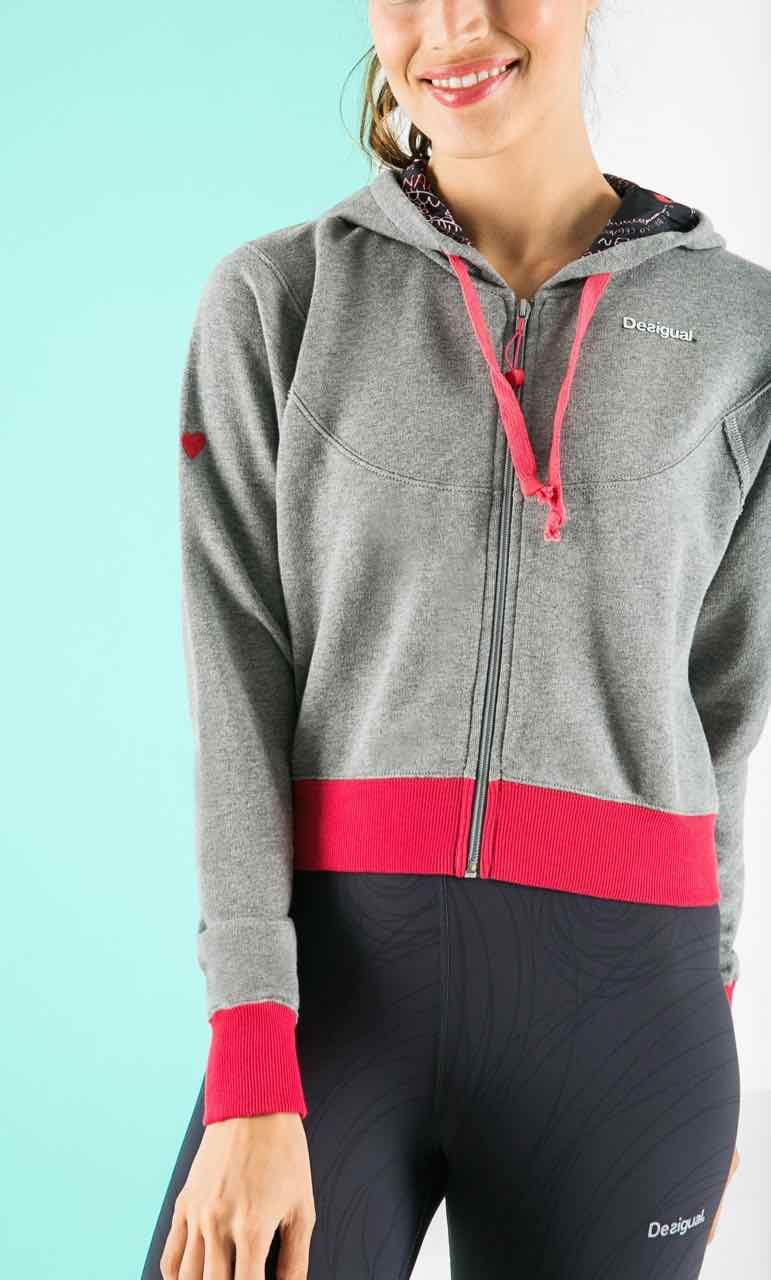 57S2SB5_2031 Desigual Sweater Rivero, Grey and Red