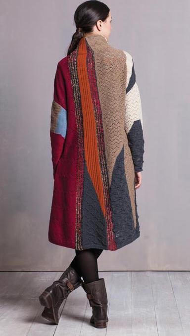 Ivko Wool Coat Intarsia Pattern 52618 Buy Online