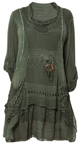 M Made in Italy Layered Dress