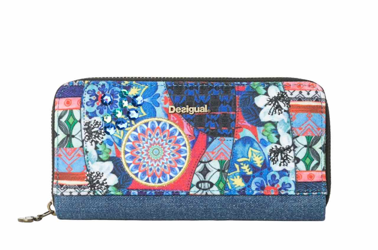 61Y53J5_5001 Desigual Wallet Zip Around Culture Club, Blue