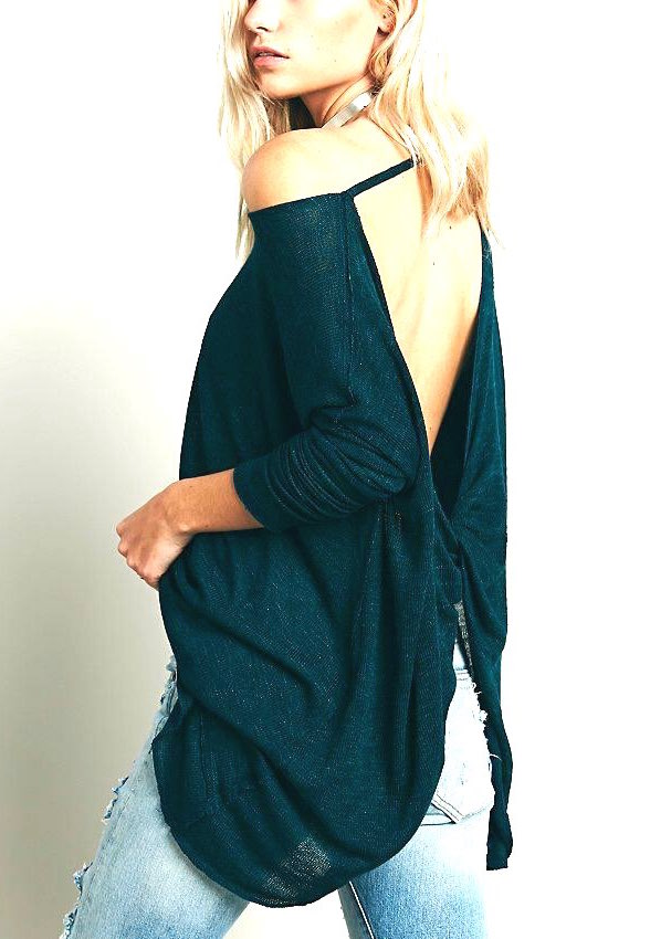 Free People Top Quot Shadow Hacci Quot Teal Ob422848 Canada