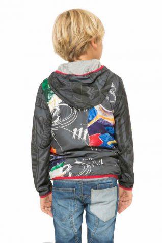 61E36C3_2000 Desigual Boy Jacket Blue back