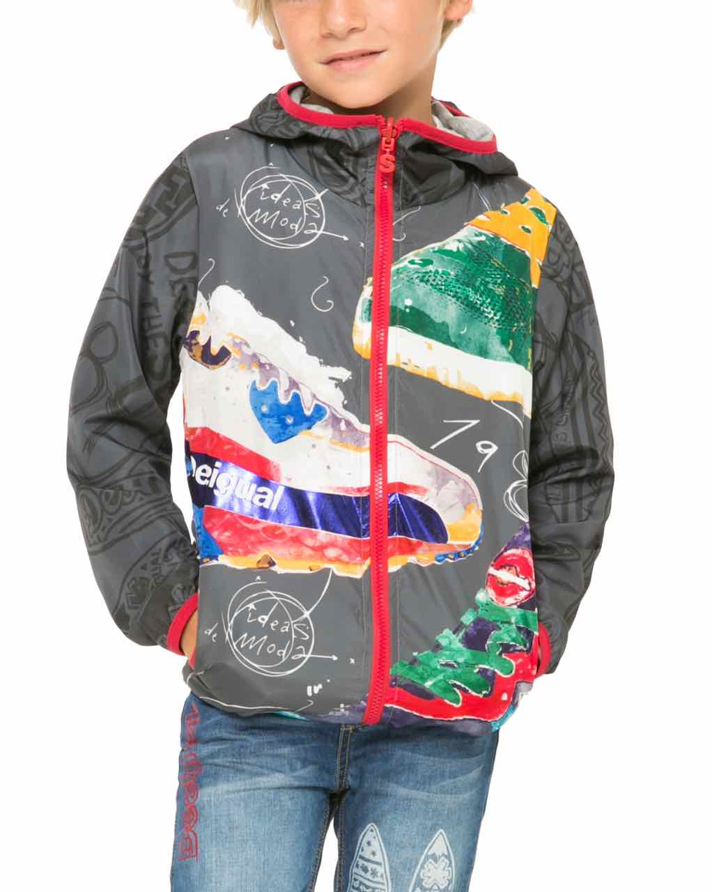 61E36C3_2000 Desigual Boy Jacket Blue
