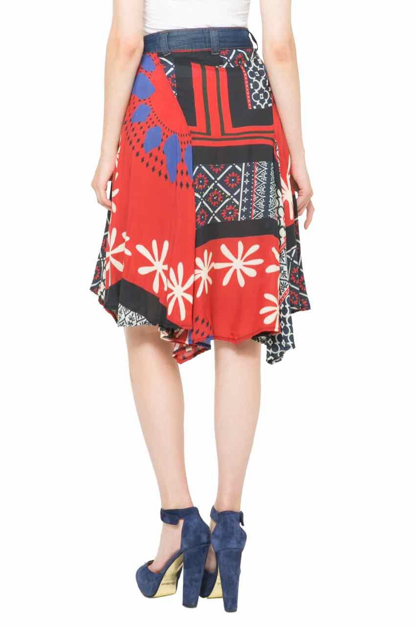 Desigual Skirt Mel 61f27c3 Pacthed Denim Canada