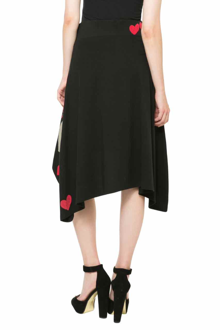 Desigual Skirt Laila 61f28b1 Black With Hearts Canada