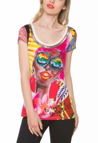 1T24C9_1020 Desigual T-Shirt Hielo, African Design