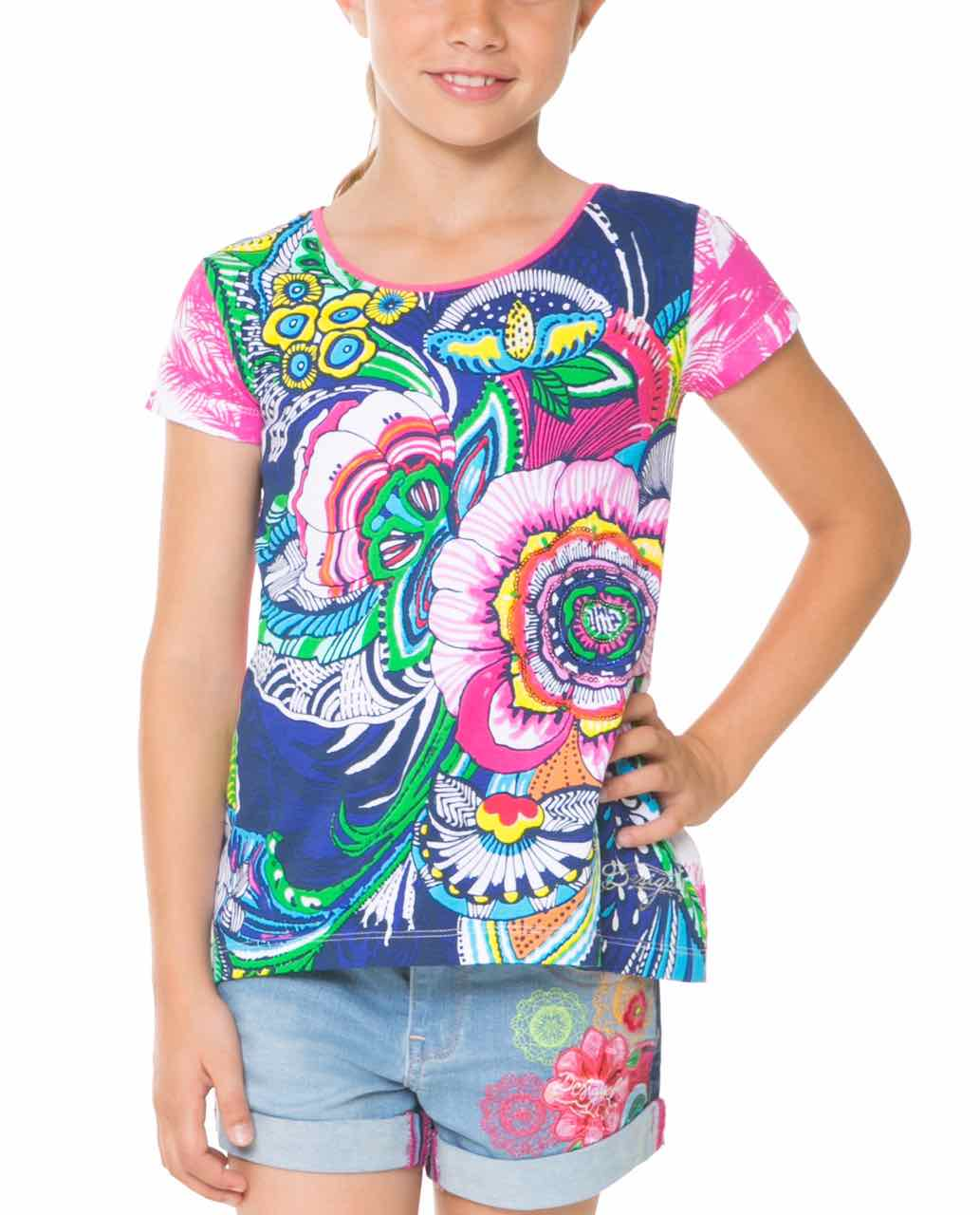 desigual girls t shirt delaware 61t30a6 canada. Black Bedroom Furniture Sets. Home Design Ideas