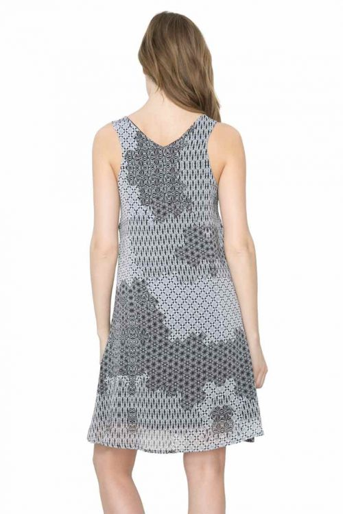 61V2LA8_1000 Desigual Dress Italia, Black and White