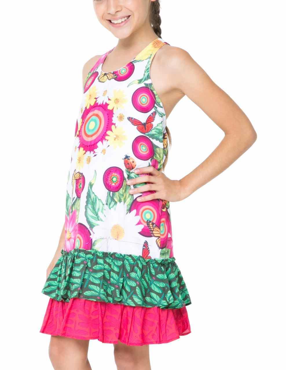 61V32B4_1000 Desigual Girl Dress Brazzaville