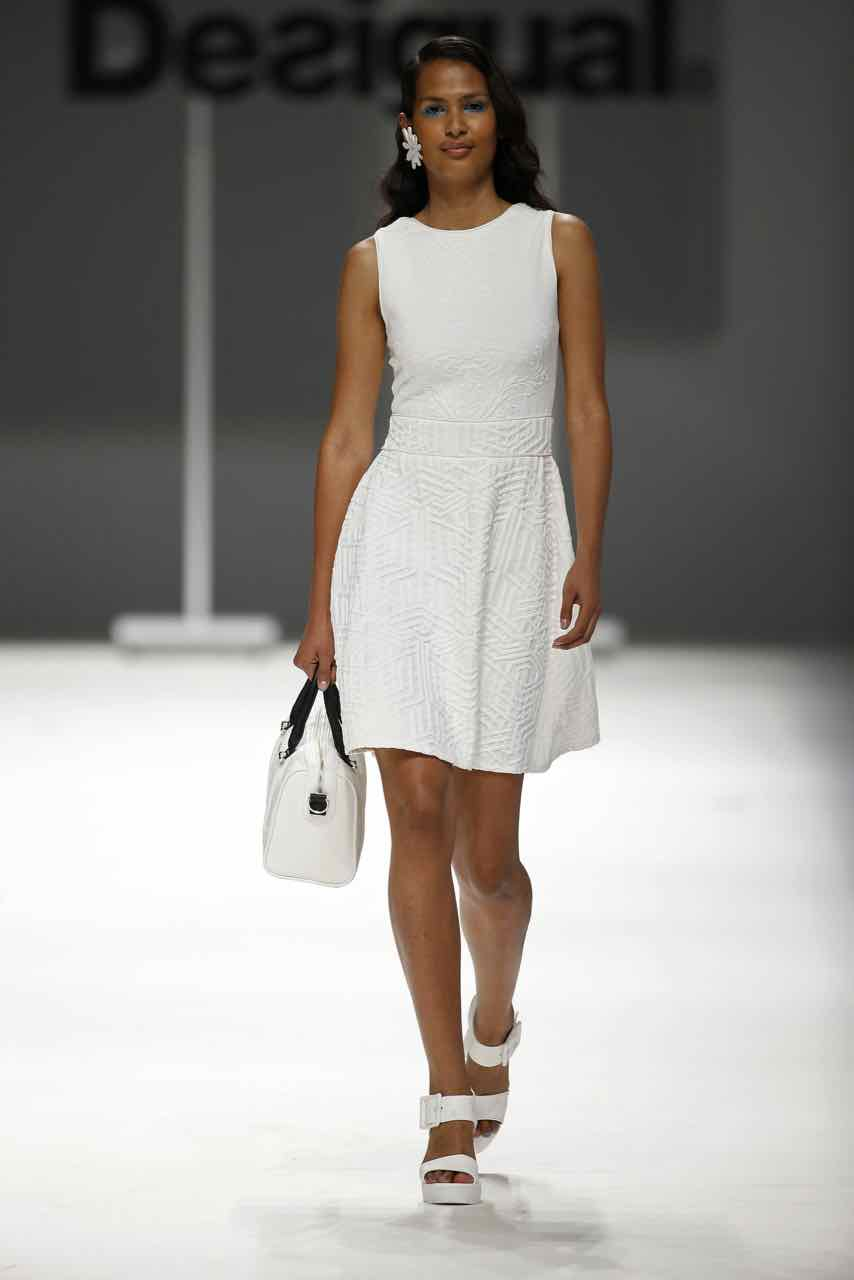 Desigual Dress Irene 61v2ld2 White Lacroix Canada