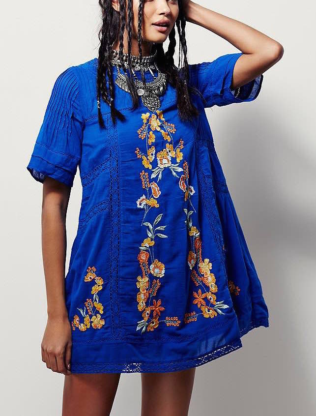 OB396813 Free People Dress Perfectly Victorian Blue, Buy online