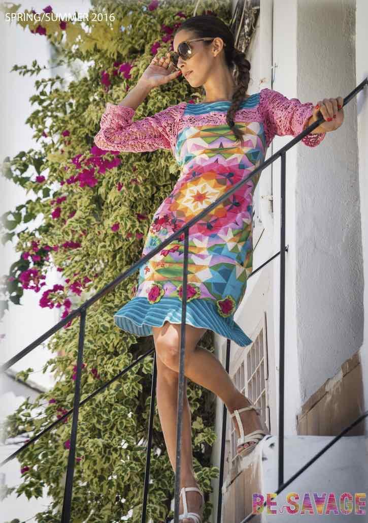 30077-VE Savage Culture Pink Summer Dress Dakota