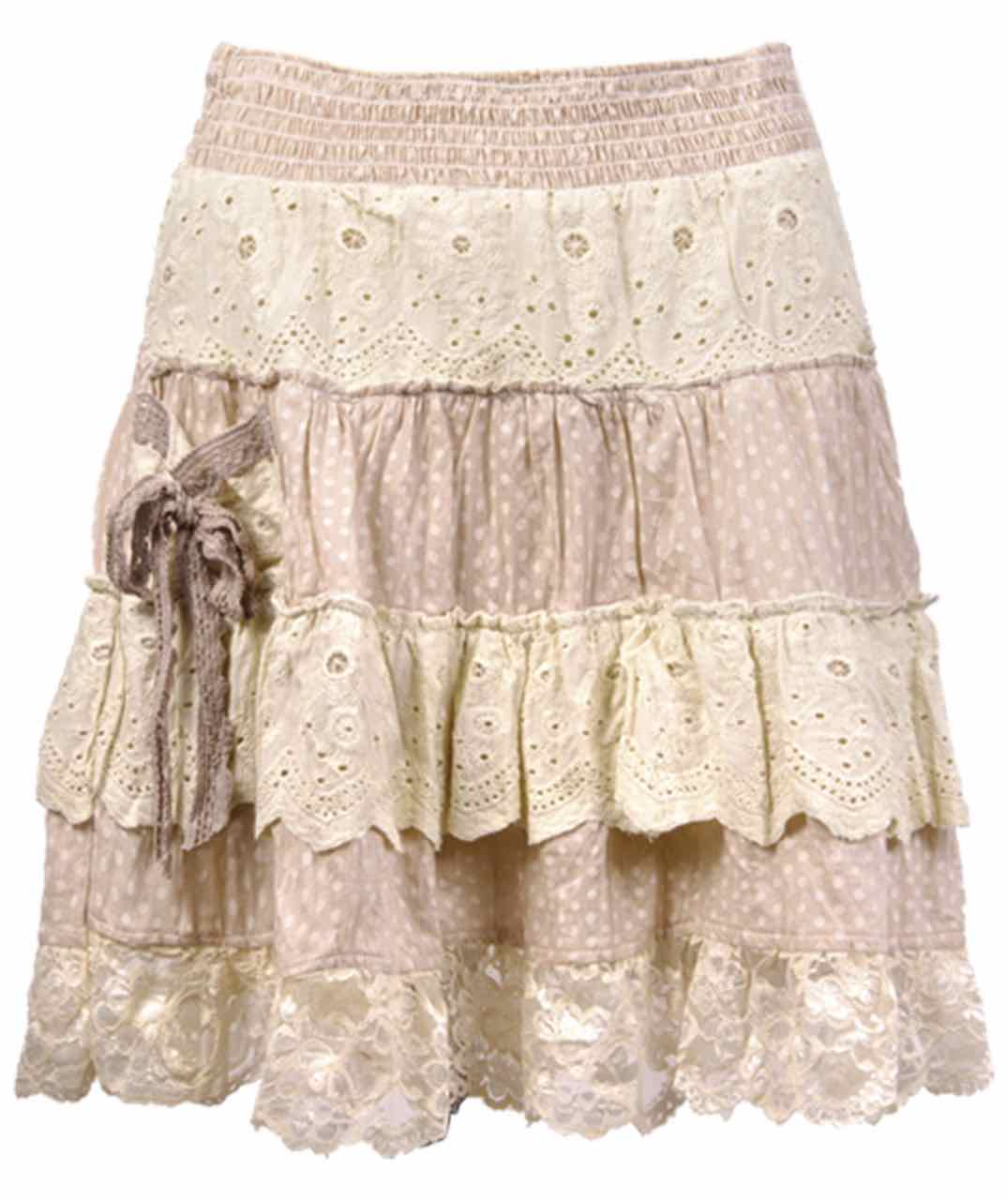 30247-FASavage Culture Skirt DANIELA, Beige