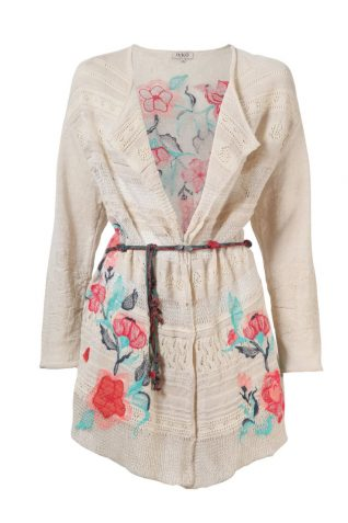 61506-011 IVKO Long Jacket with Floral Embroidery, buy online