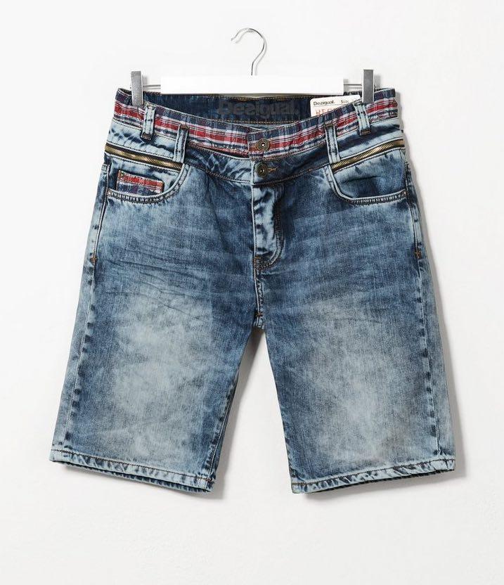 Desigual Man Denim Bermuda Shorts, buy online