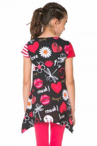 61T30L2_2000 Desigual Girl T-Shirt Swan back