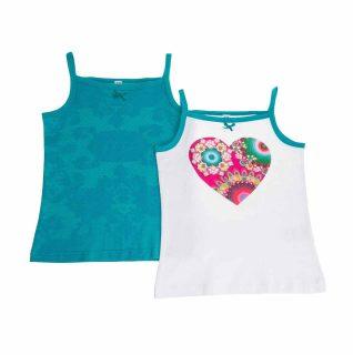61U35H8_5055 Desigual Girl T-Shirt Blondie Set of 2