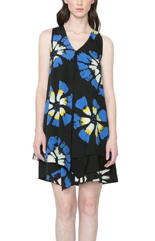 61V28G6_5020 Desigual Dress Eranthe (Blue) front Buy Online