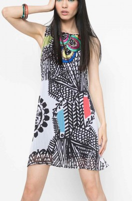 61V2LD5_1000 Desigual Lacroix Dress Natalia Rep, Gauze Dress