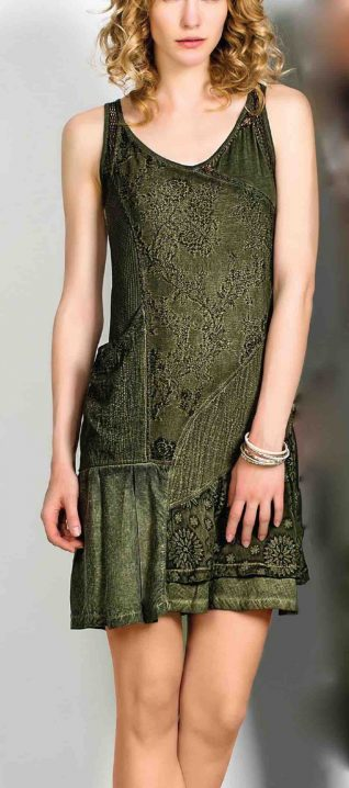 Angels never Die Olive Dress