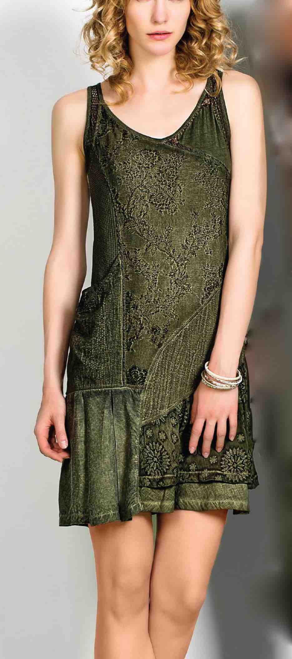 Angels Never Die Dress 2127 Olive Summer 2016
