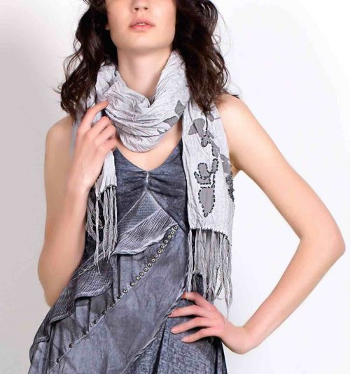 Angels Never Die Silver Scarf 2234, buy online, Canada