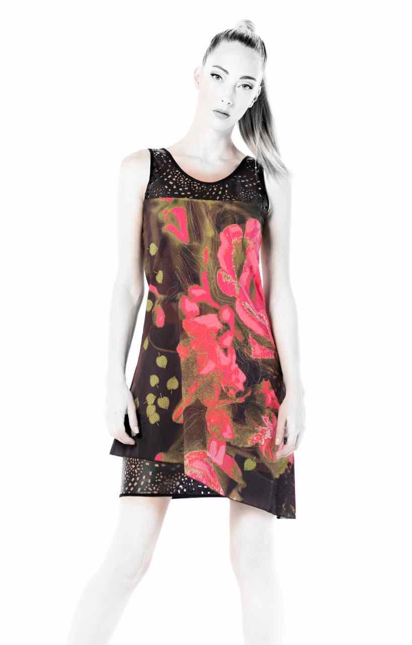VOLT Asymmetric Dress 322 DAHLIA WB
