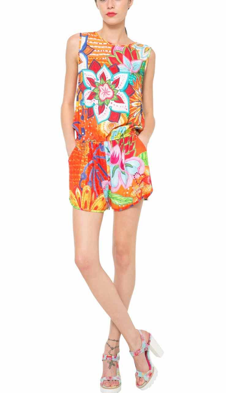 61P26A3_7009 Desigual Overall Shorts Mandarina Buy Online