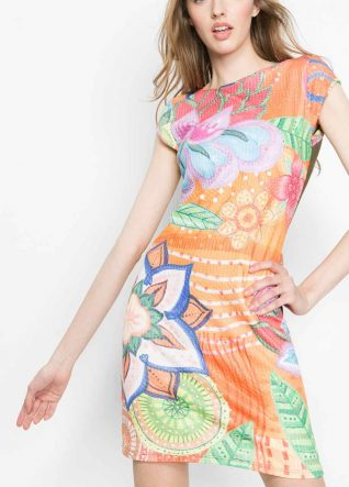61V20A8_7009 Desigual Dress Rebeca Buy Online