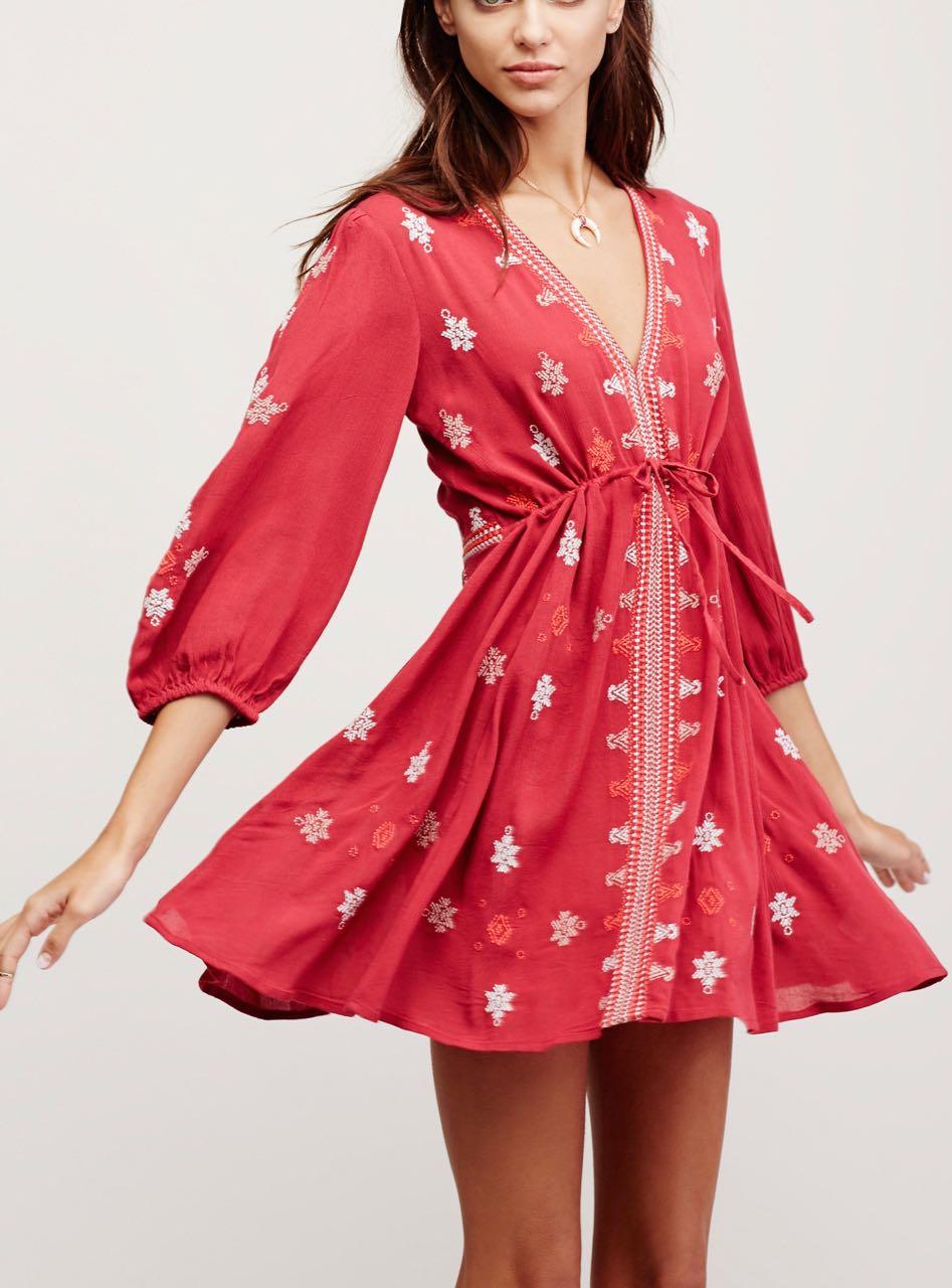 32060089_061 Free People Red Dress Buy Online