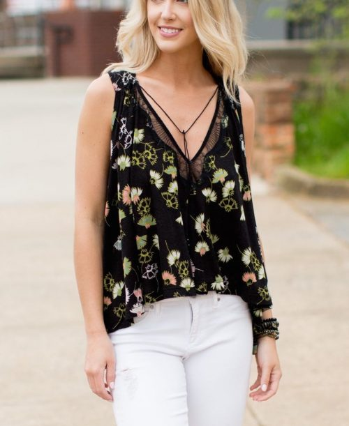 Free People Top Love Potion Black front Buy Online