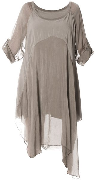 M Made in Italy Dress 19-7161E Taupe Buy Online