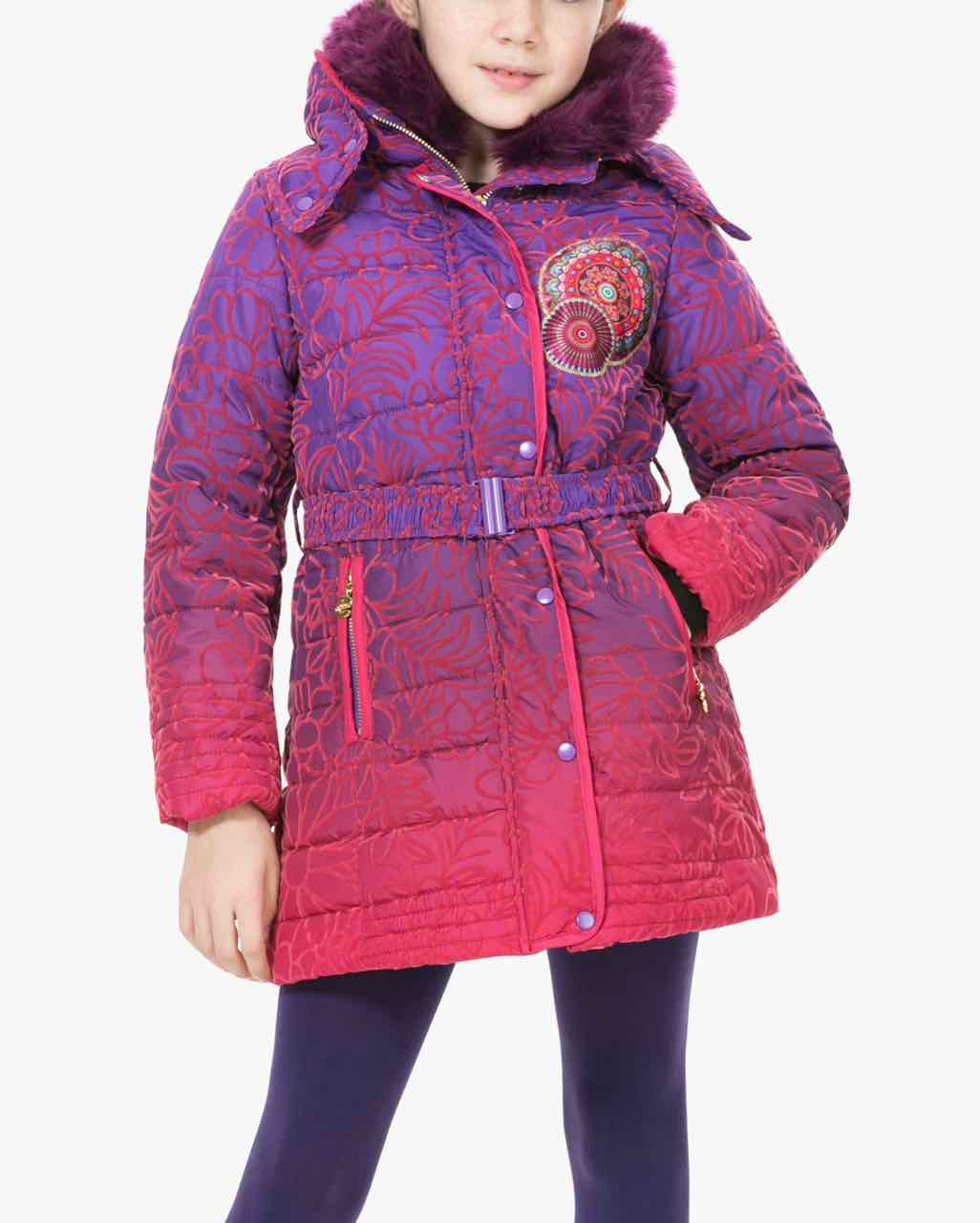 67E34B1_3125 Desigual Girl Coat Opuntia Buy Online